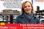 Stella Creasy election campaign leaflet